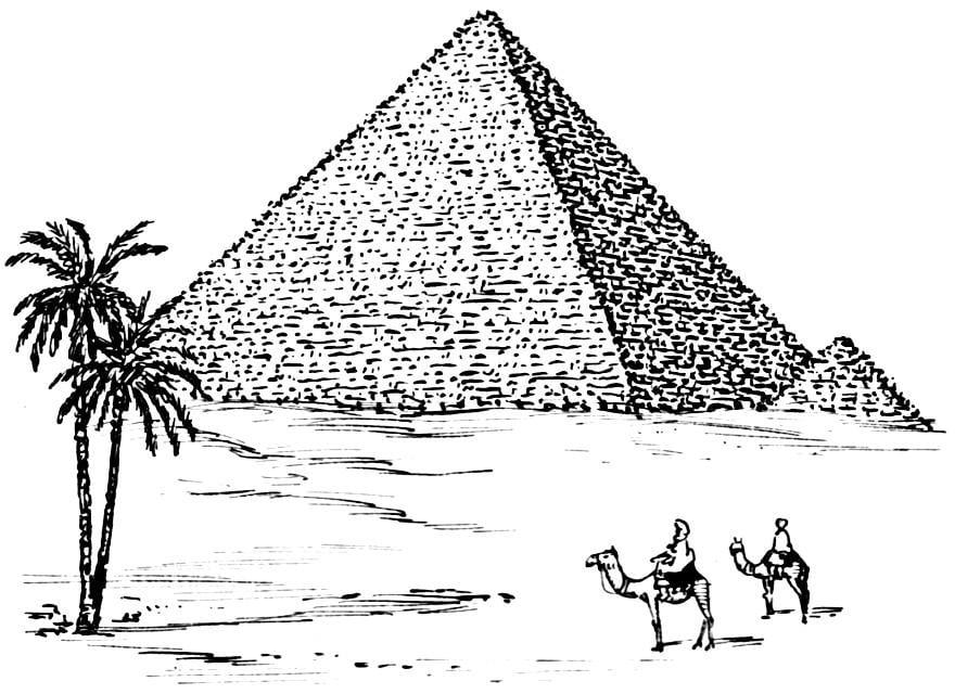 ausmalbilder ägypten pyramiden
