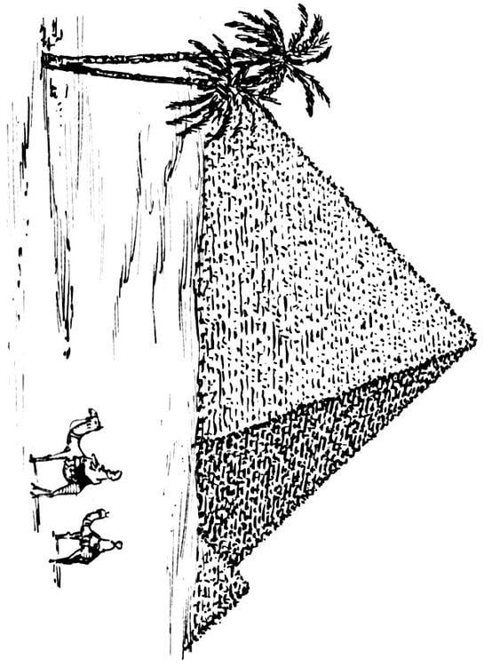 Malvorlage Pyramide Ausmalbild 15946