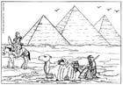 Malvorlage  Pyramiden