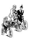 Malvorlage  radfahren