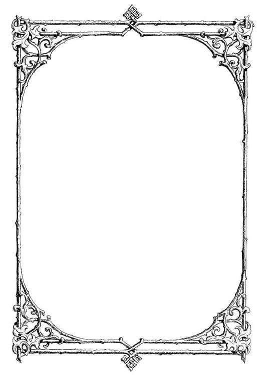 Malvorlage Rahmen Mit Zweigen Ausmalbild 11230
