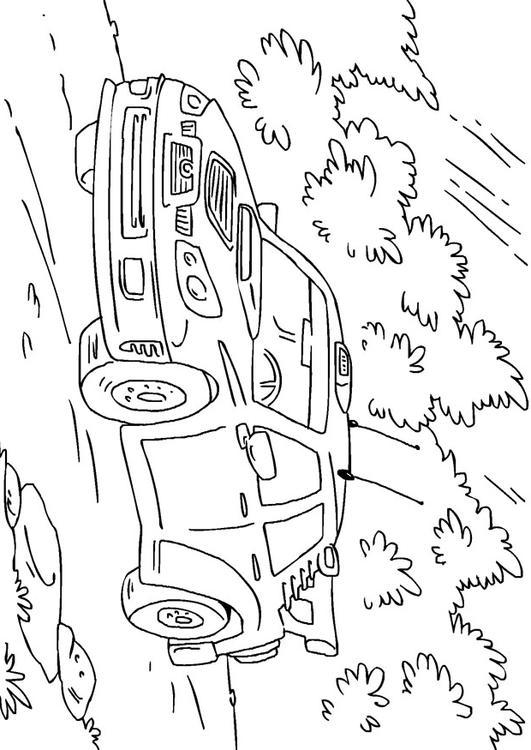 Malvorlage Rallyeauto Ausmalbild 27170