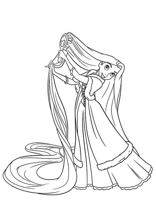 Malvorlage Rapunzel Ausmalbild 20743