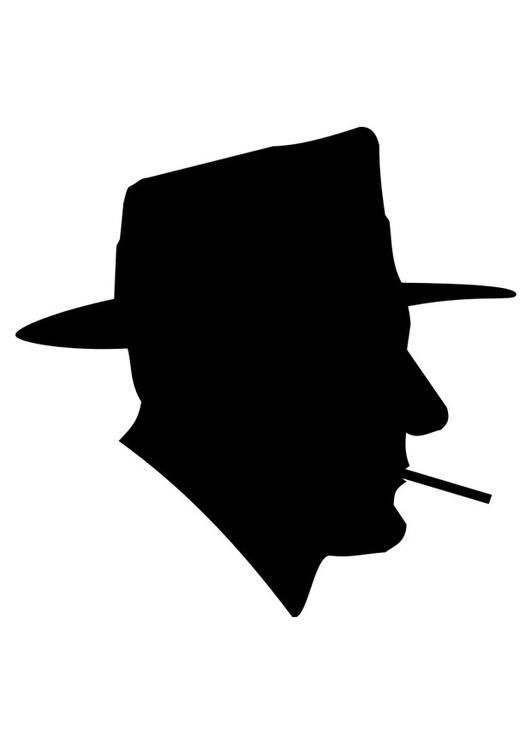 malvorlage rauchender mann  kostenlose ausmalbilder zum
