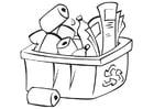 Malvorlage  recyclen