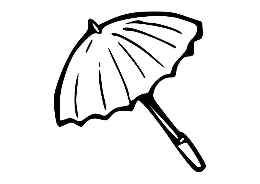 malvorlage regenschirm - kostenlose ausmalbilder zum
