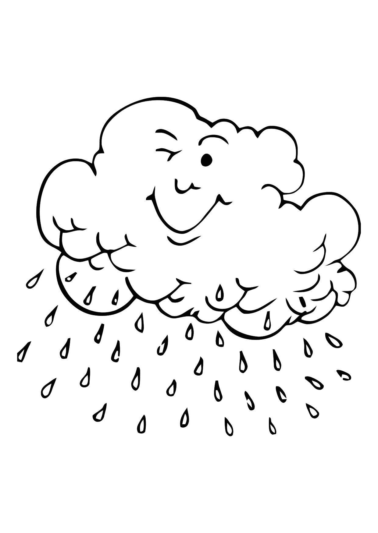 malvorlage regenwolke  ausmalbild 11352