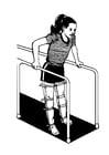 Malvorlage  Rehabilitationstherapie