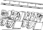Malvorlage  Reisen - Flugzeug