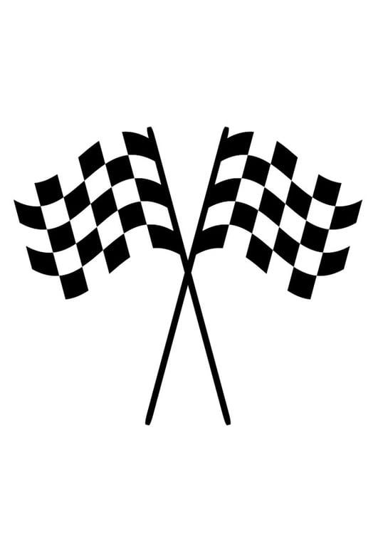 Malvorlage Rennflaggen