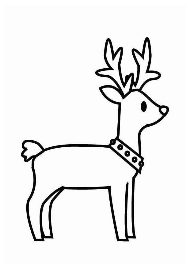 malvorlage rentier weihnachten  kostenlose ausmalbilder