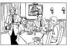 Malvorlage  Restaurant