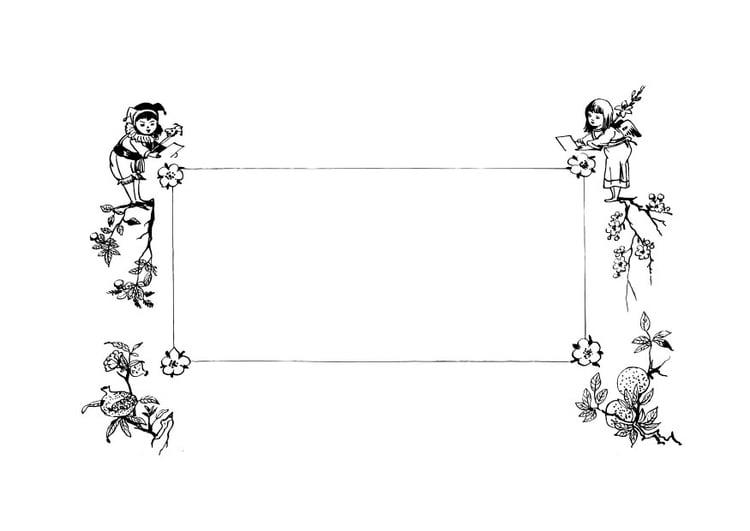 Malvorlage Retro Rahmen Ausmalbild 28137