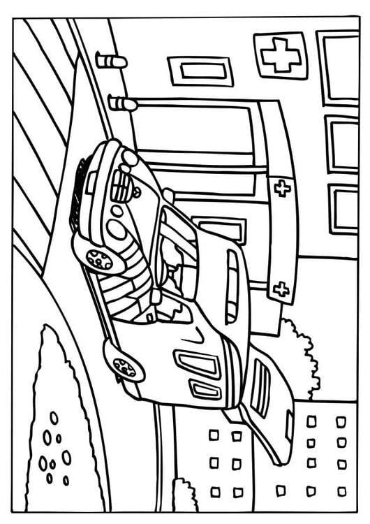 Malvorlage Rettungswagen Ausmalbild 6579