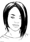 Malvorlage  Rihanna