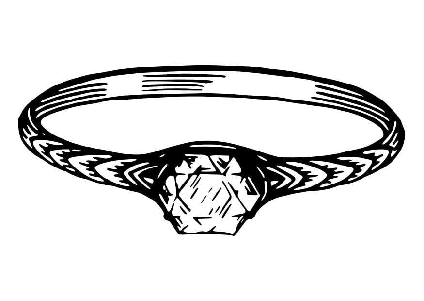 Malvorlage Ring   Ausmalbild 30088.