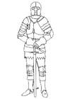 Malvorlage  Ritter im Harnisch