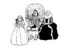 Malvorlage  Ritter mit Familie