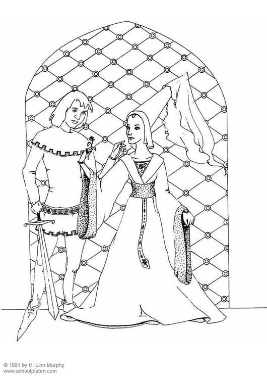 Malvorlage Ritter Und Adlige 1400 Ausmalbild 3834 Images