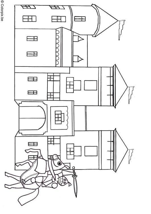Malvorlage Ritter Und Burg Ausmalbild 18477