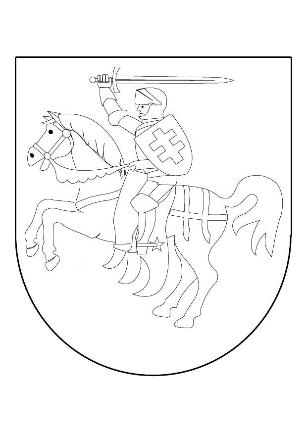 Coloring Pages Knights Shields