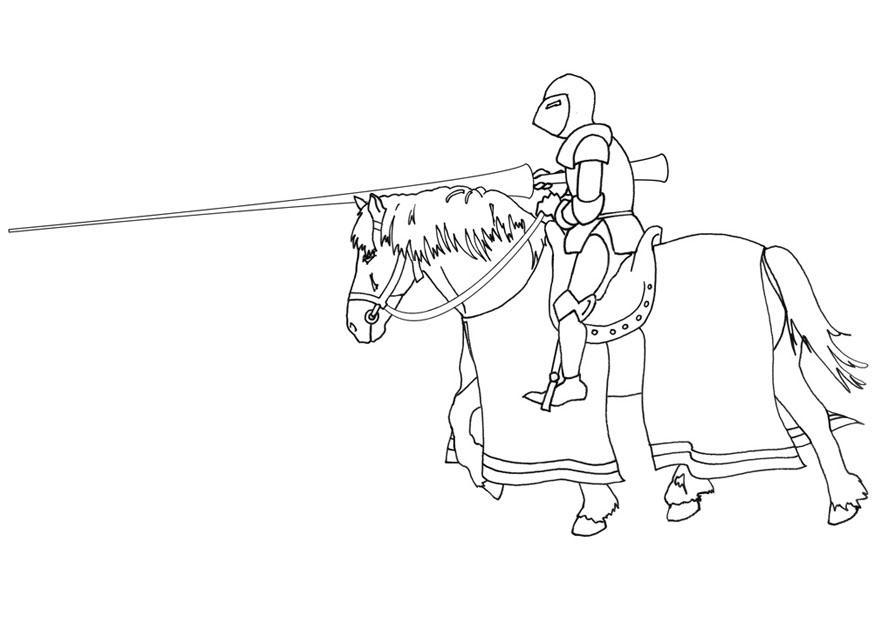 malvorlage ritter zu pferd  kostenlose ausmalbilder zum