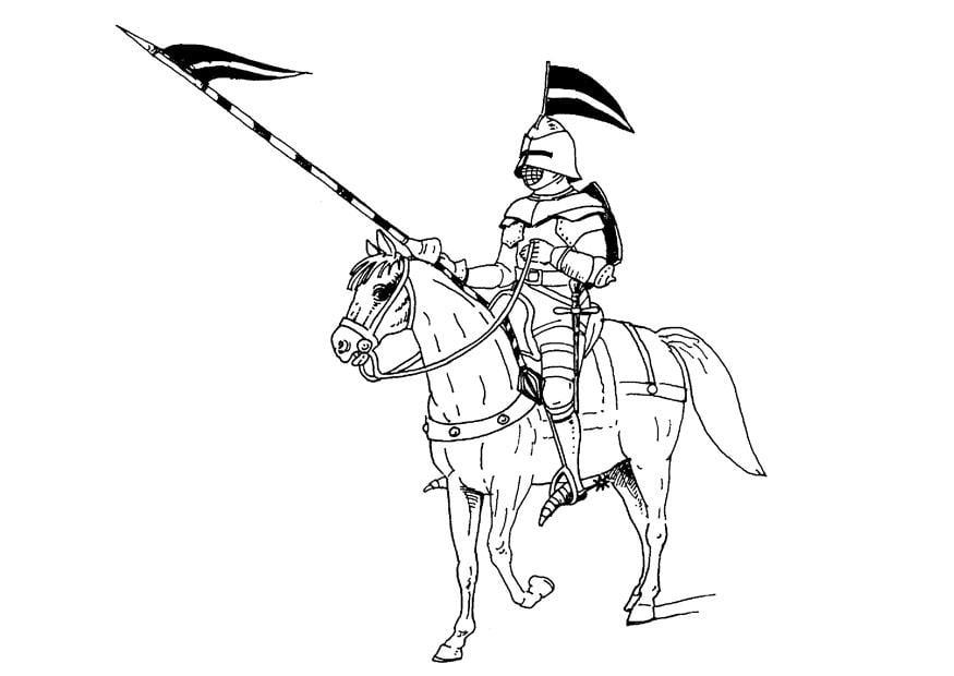 Malvorlage Ritter Zu Pferd Ausmalbild 9073