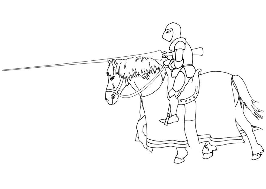 Malvorlage Ritter Zu Pferd Ausmalbild 9476