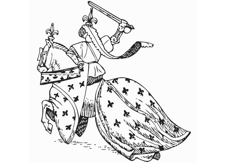 Malvorlage Ritter Zu Pferde Ausmalbild 12894