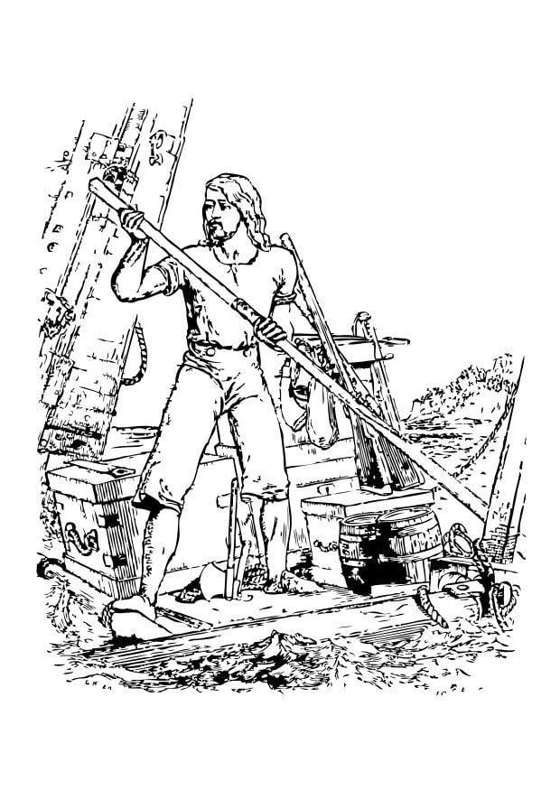 Robinson Crusoe Clip Art.