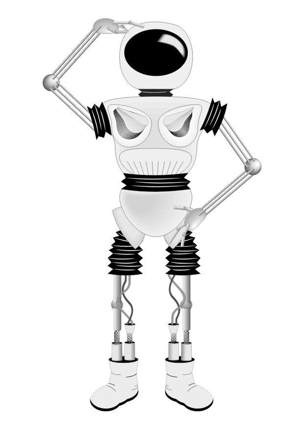 malvorlage roboter  kostenlose ausmalbilder zum ausdrucken