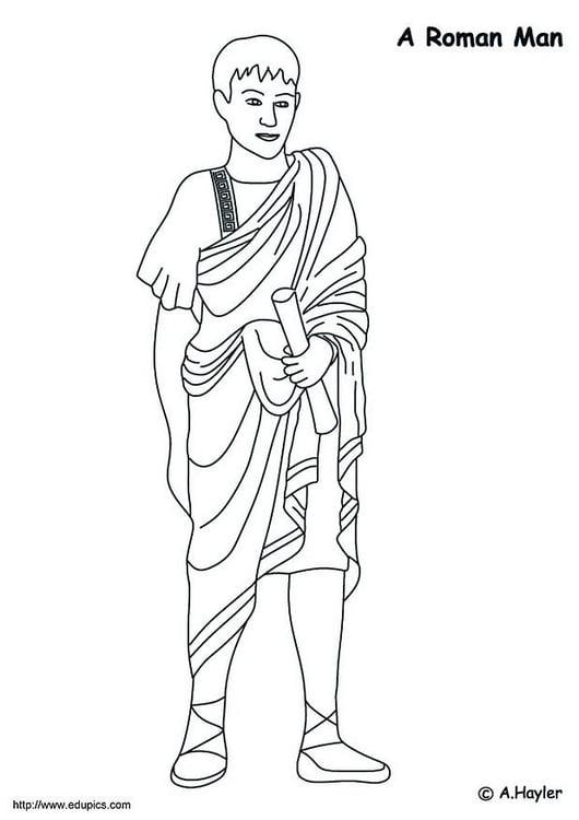Malvorlage Römer   Ausmalbild 4185.