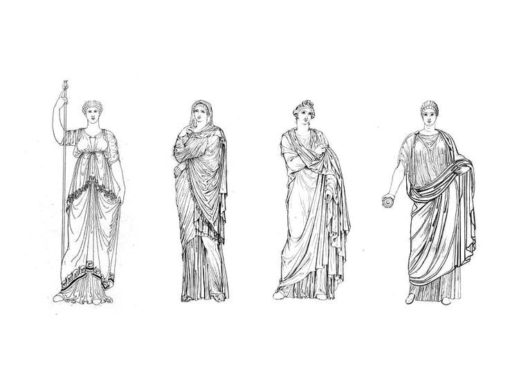 Malvorlage Römische Frauen Ausmalbild 9425