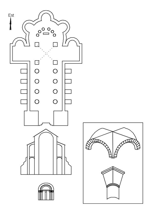 Malvorlage Römische Kirche | Ausmalbild 10693.