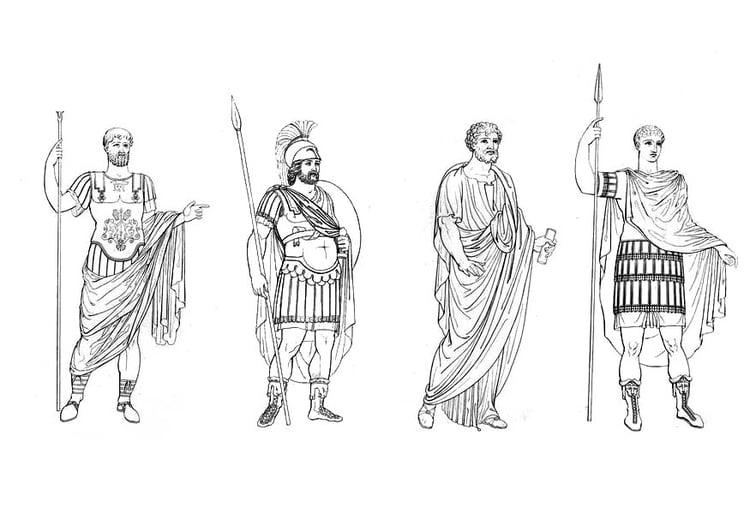 Malvorlage Römische Männer Ausmalbild 9423