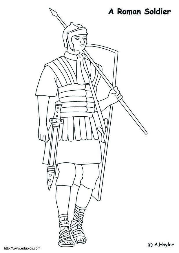 malvorlage römischer krieger  kostenlose ausmalbilder zum