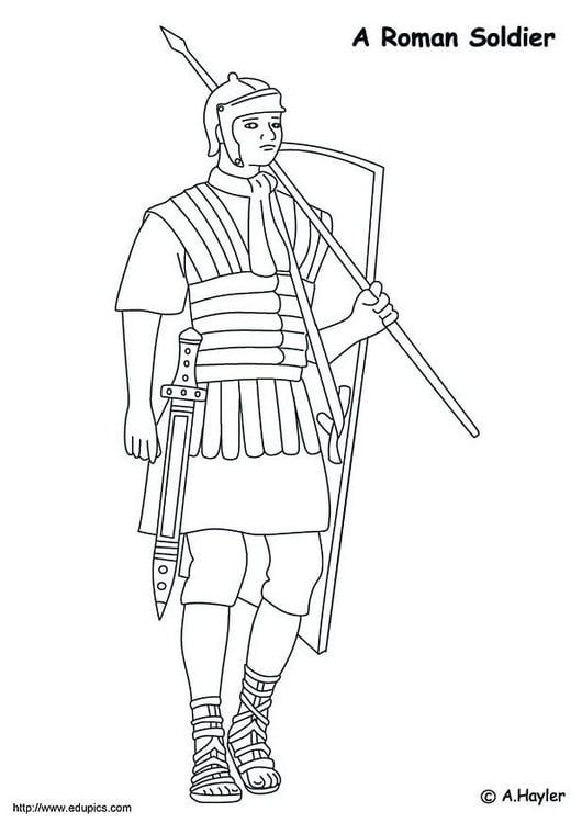 Malvorlage Römischer Krieger Ausmalbild 10681