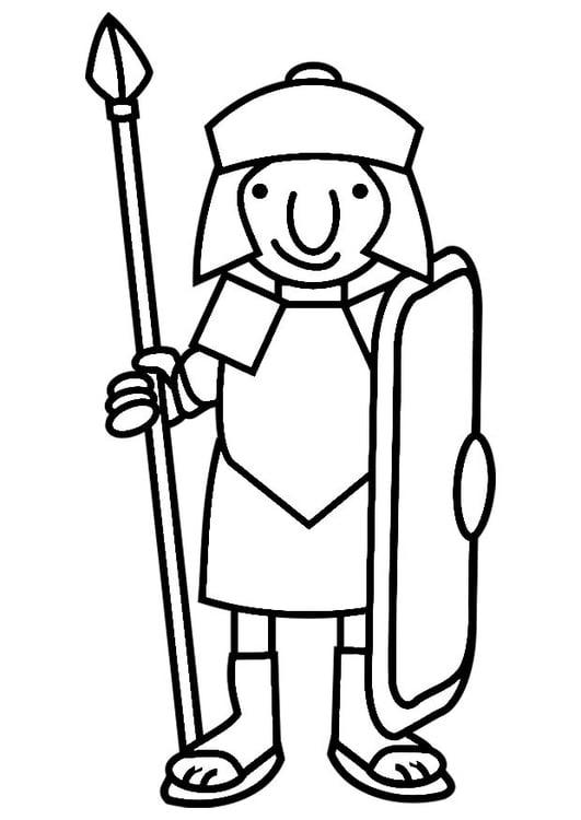 Malvorlage Römischer Soldat Ausmalbild 19795