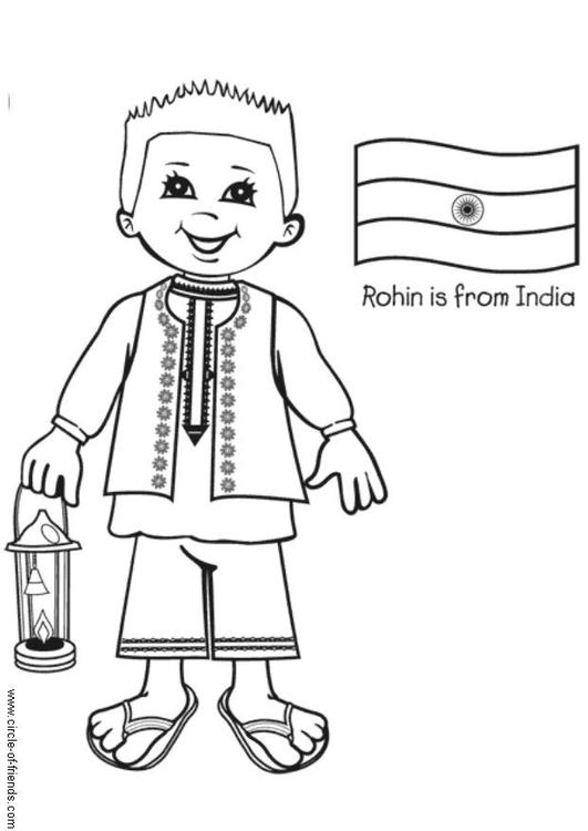 Malvorlage Rohin aus Indien | Ausmalbild 5649.