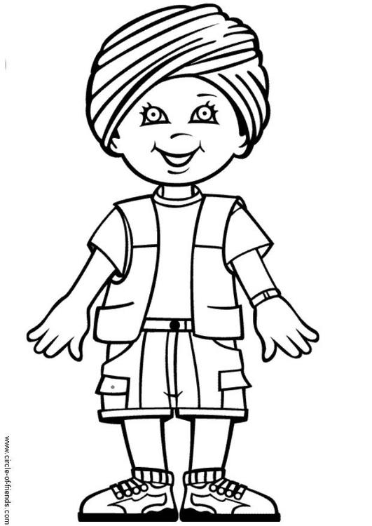 Malvorlage Rohin aus Indien | Ausmalbild 9285.