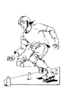Malvorlage  Rollerskate
