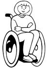 Malvorlage  Rollstuhl