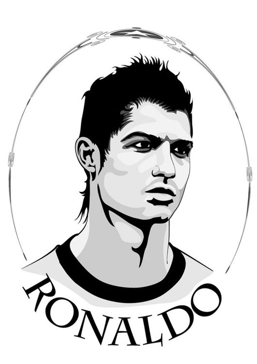 Malvorlage Ronaldo Ausmalbild 24752