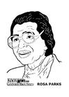 Malvorlage  Rosa Parks