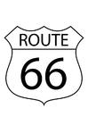 Malvorlage  Route 66