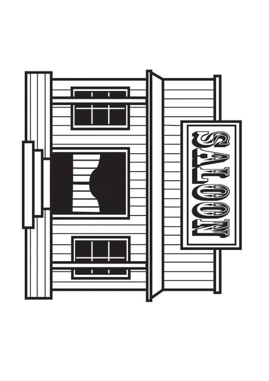 Malvorlage saloon ausmalbild 23166 - Saloon dessin ...