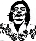 Malvorlage  Salvador Dalí