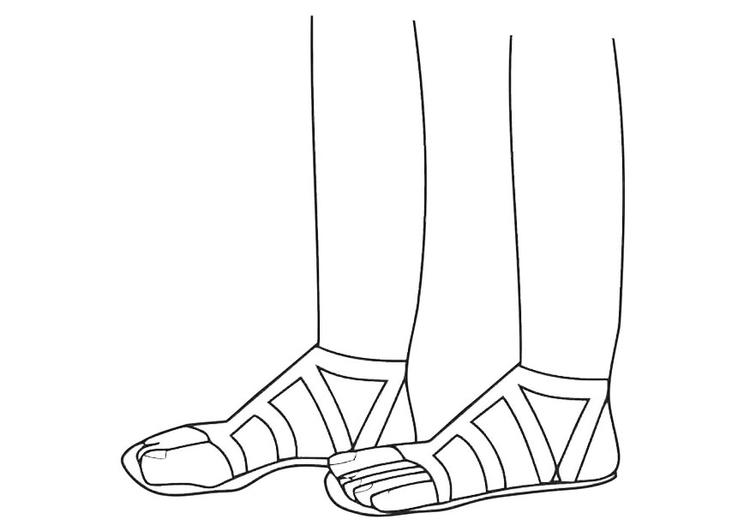 malvorlage sandalen  kostenlose ausmalbilder zum