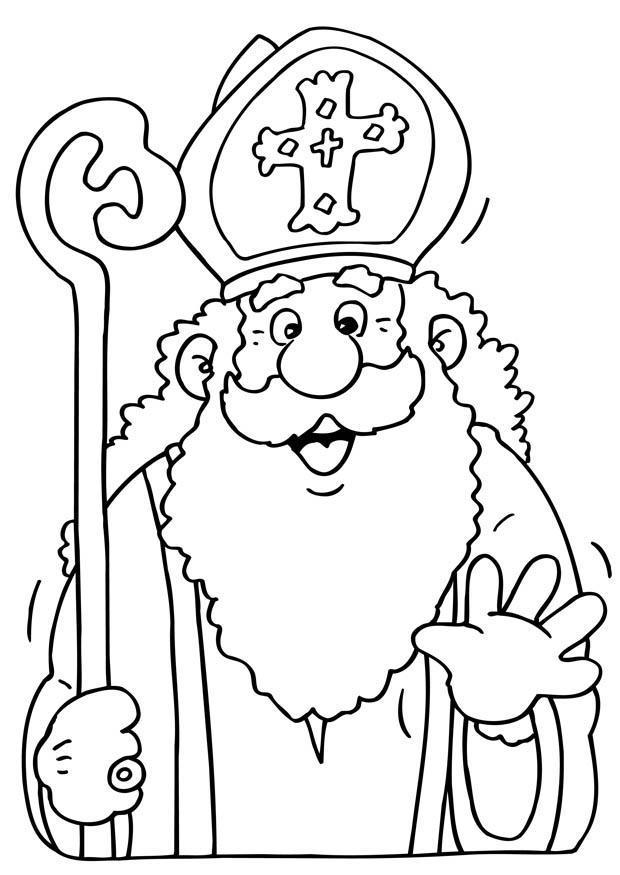 Malvorlage Sankt Nikolaus Ausmalbild 8670