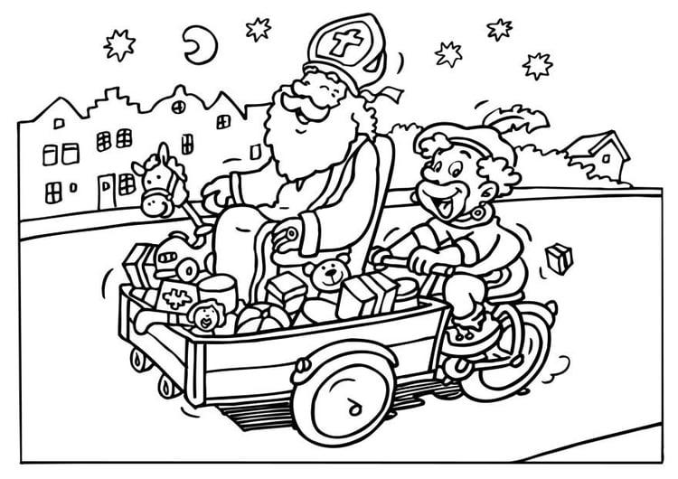 Malvorlage Sankt Nikolaus Und Knecht Ruprecht Ausmalbild 6542 Images